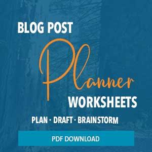 blog post planner worksheets