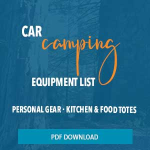 car camping gear and tote list