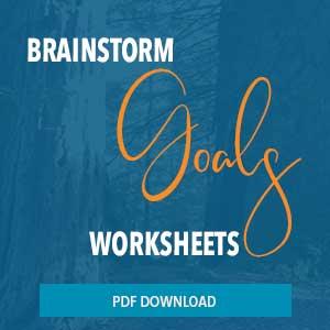 brainstorm goal worksheet