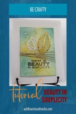 pinterest pin there is beauty in simplicity handmade card tutorial