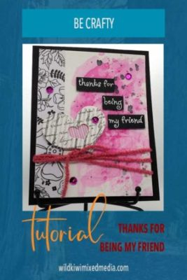 pinterest pin thank for being my friend card tutorial