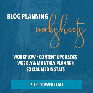 blog planning forms