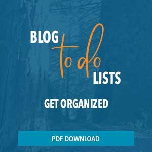 Blog to do list