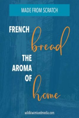 pinterest pin for homemade french bread post