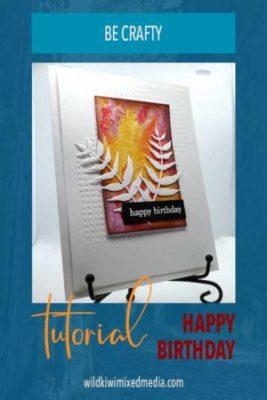 Pinterest pin for card tutorial happy birthday ferns