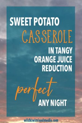PIN for sweet potato casserole recipe