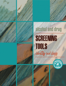 alcohol and drug screening tools