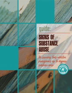 GUIDE signs of substance abuse cover